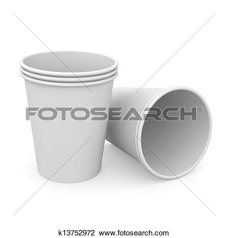 Stock Illustration of Plastic Cups k7388527.