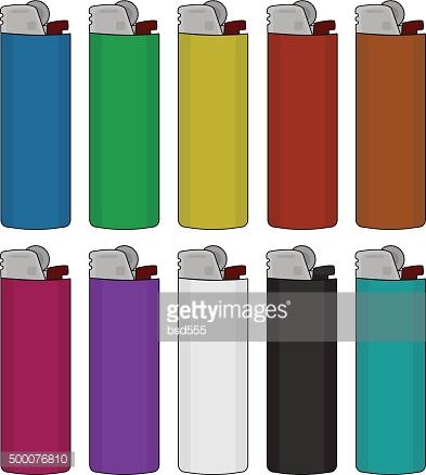 Disposable Lighters Set premium clipart.