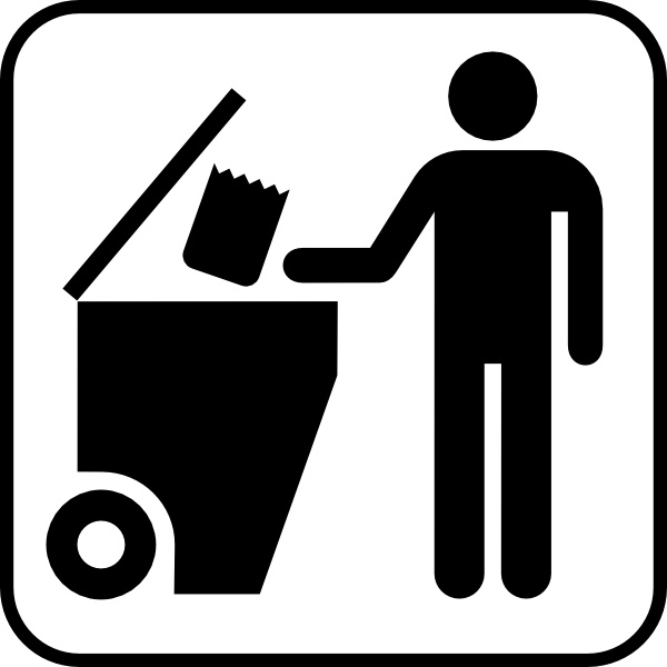 Trash Disposal clip art Free vector in Open office drawing svg.