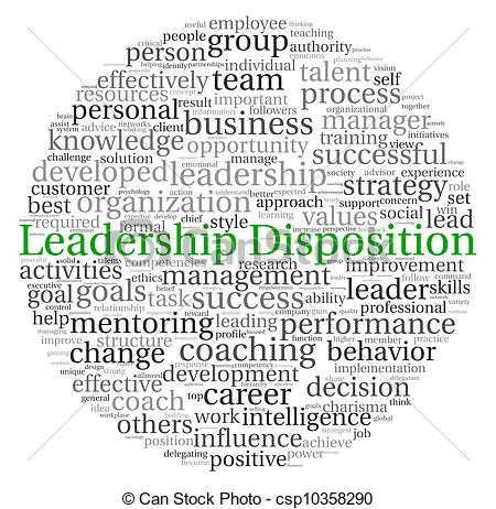 Stock Illustration of Leadership Disposition concept in word tag.