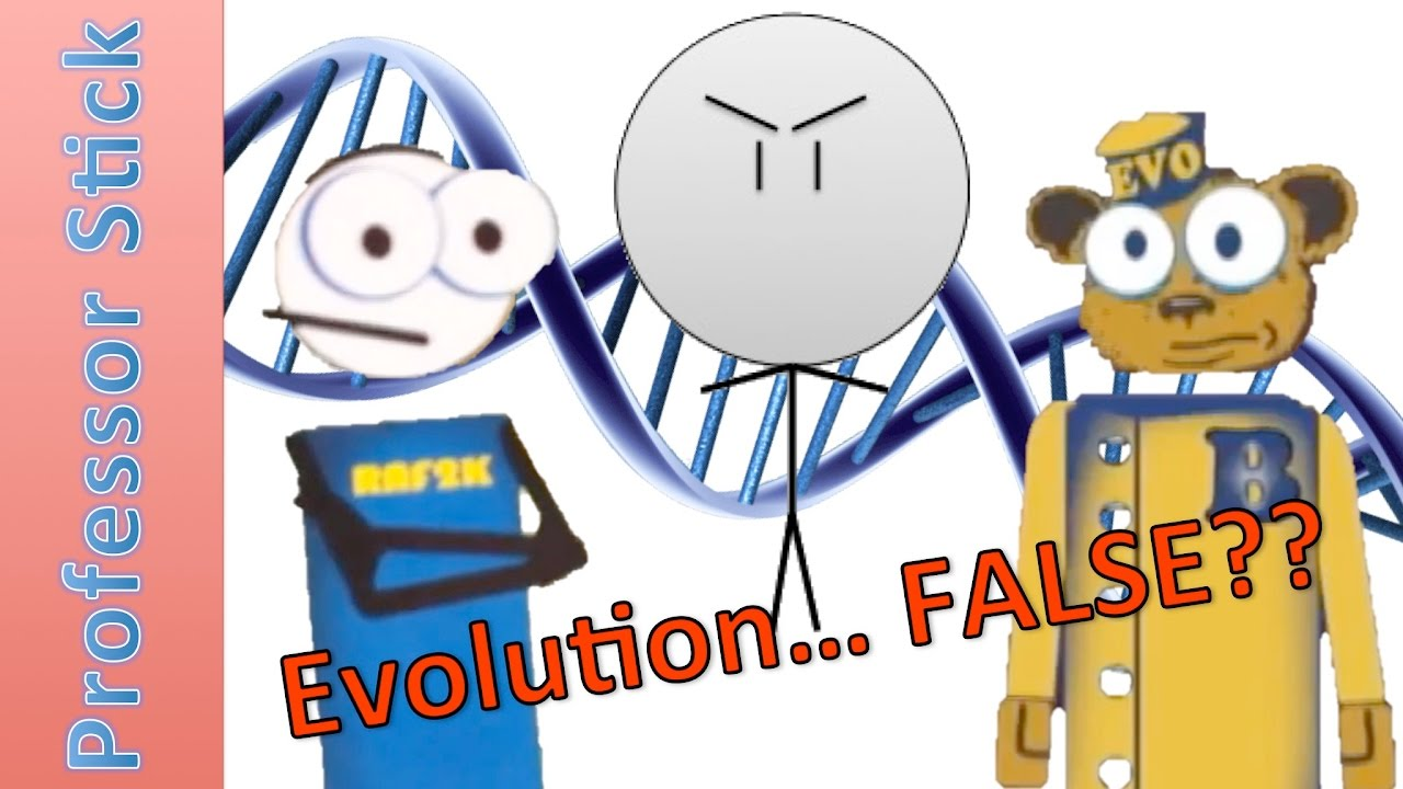 Silly Animated Creationist Tries to Disprove Evolution (Guest.