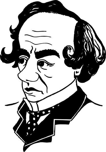 Benjamin Disraeli clip art Free vector in Open office drawing svg.