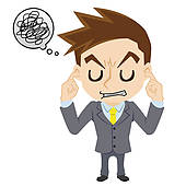 Stock Illustration of Angry woman, man to ignore k24598225.