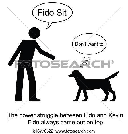 Clipart of Fido Sit k16776522.