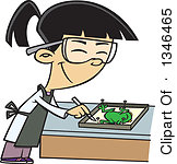 Animal dissection clipart.