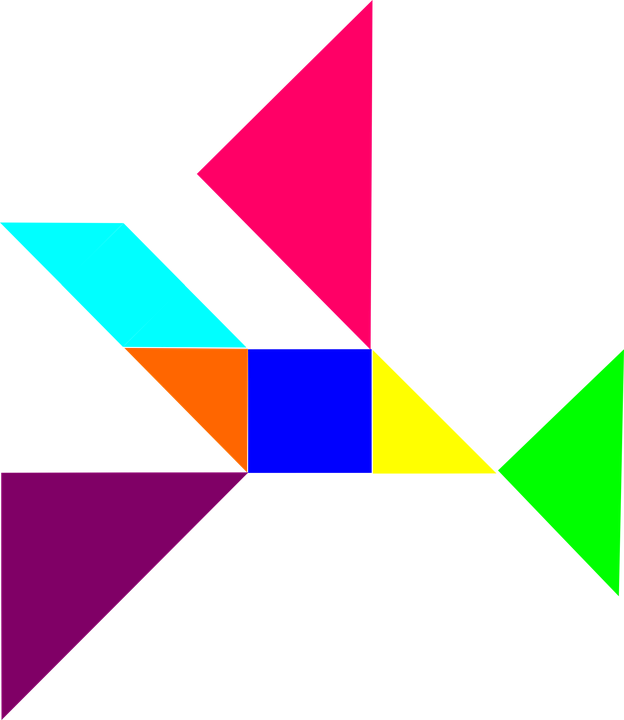 Free vector graphic: Puzzle, Tangram, Dissection Puzzle.
