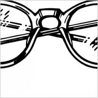 Spectacles clip art.