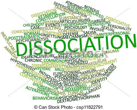Stock Illustration of Dissociation.