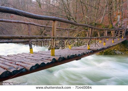 Log Bridge Stock Photos, Royalty.