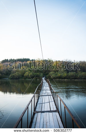 Small River With Bridge Stock Photos, Royalty.