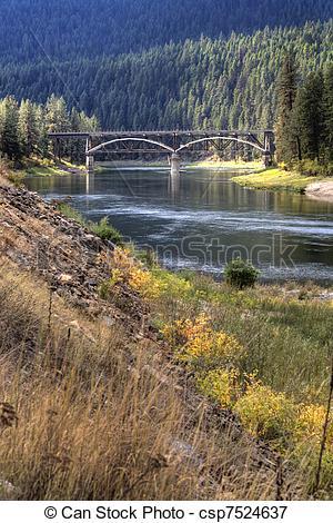 Picture of Bridge over Flathead river..