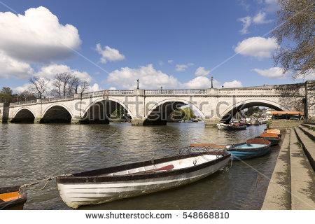 Richmond Bridge Stock Photos, Royalty.