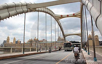 The Liberation Bridge Across The Ming River In Fu Editorial Stock.