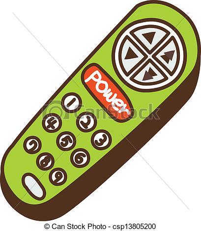 Vector Clipart of remote control csp13805200.