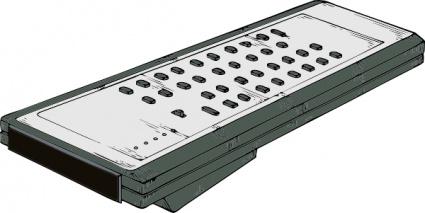 TV Remote Control Clip Art, Vector TV Remote Control.