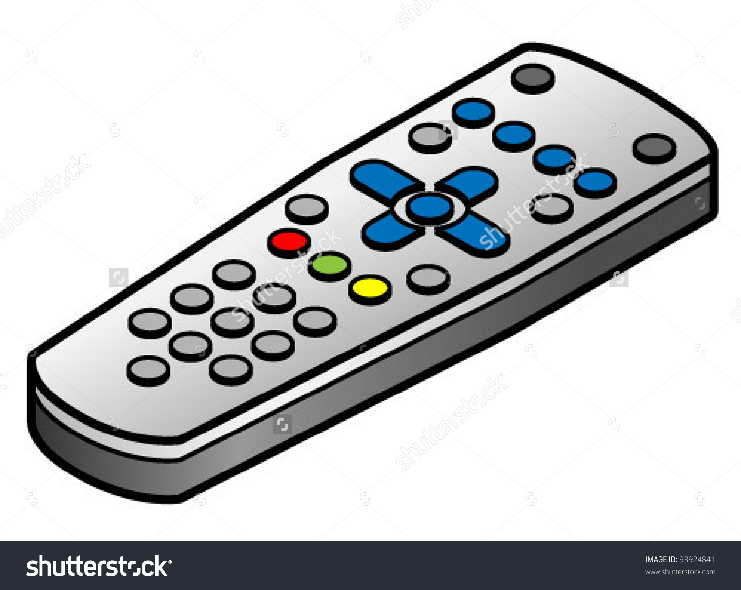Tvdvdset Top Box Remote Control Stock Vector 93924841.