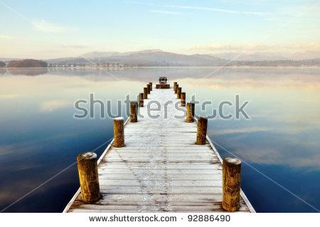 Pier On The Lake Stock Photos, Royalty.