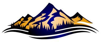 Mountain Range Logo Stock Vector.