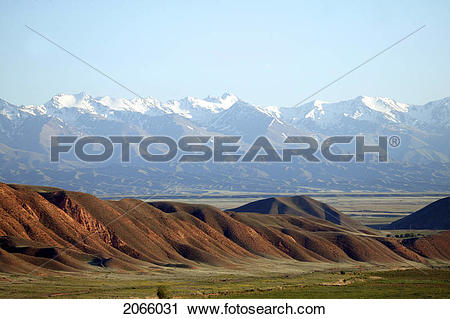 Stock Photography of Distant Mountains In Kyrgyzstan 2066031.