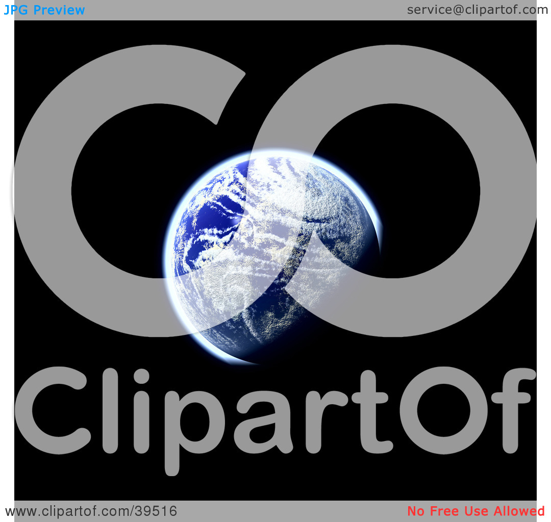 Clipart Illustration of a Distant View Of Our Planet Earth, In The.