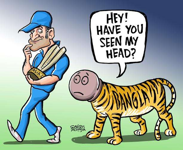 Comic: MS Dhoni heroics in final after distasteful photoshopped.