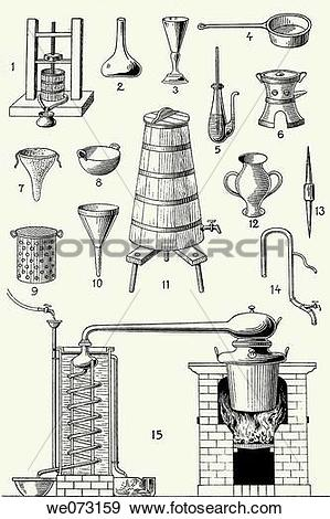 Stock Photograph of Old distillery tools and machines we073159.