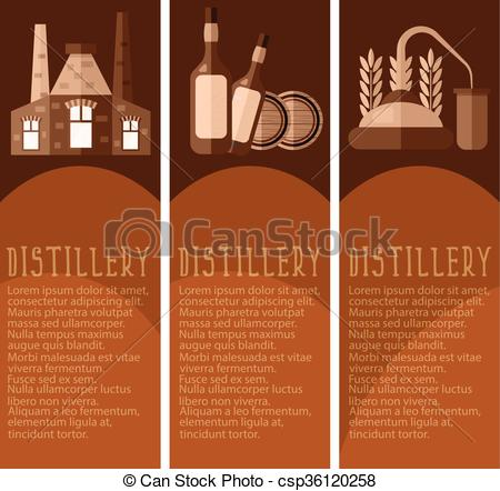 Distillery industry icon clipart.