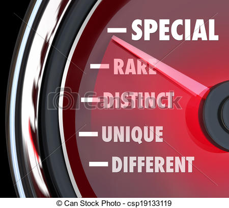 Clipart of Special Distinct Different Speedometer Measure.