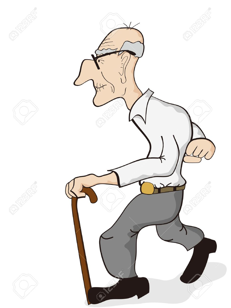 Distinguished old man clipart.