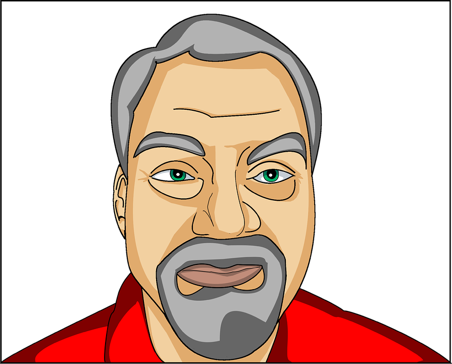 Free vector graphic: Man, Face, Bear, Worried, Person.