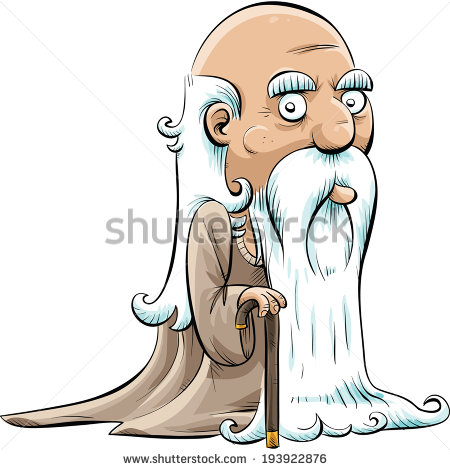 Wise Old Man Stock Images, Royalty.