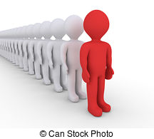 Distinguishing in a line of people Stock Illustration Images. 4.