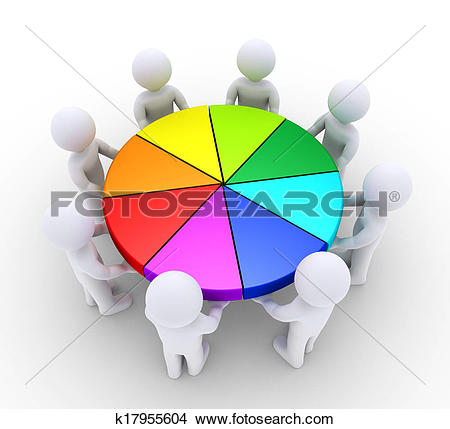 Clipart of Distinguishing in a line of people k12644421.
