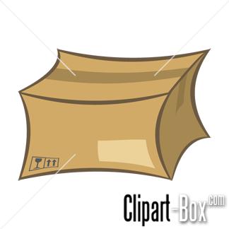 CLIPART DISTORT CARDBOARD BOX.