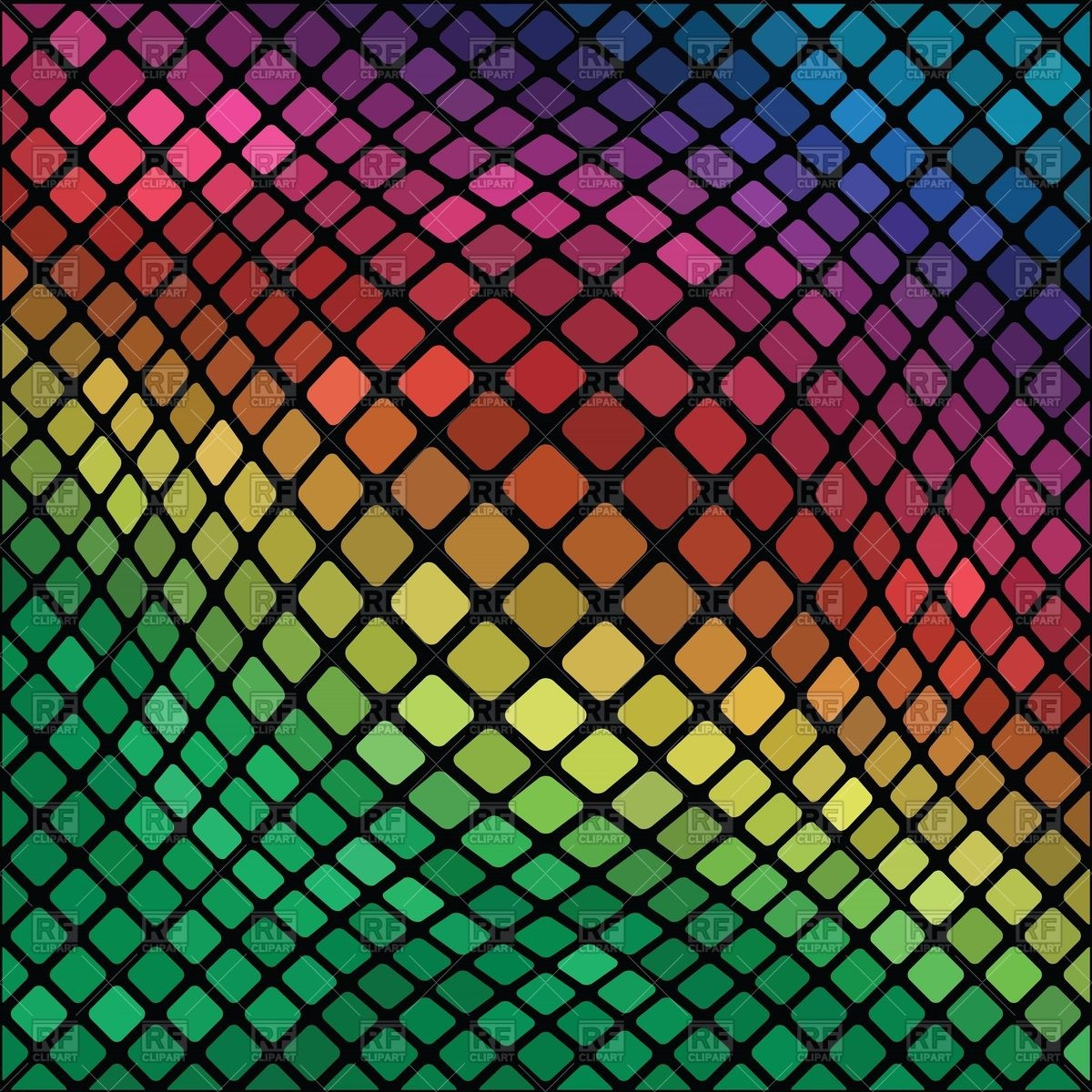 Mosaic distorted background Vector Image #39317.