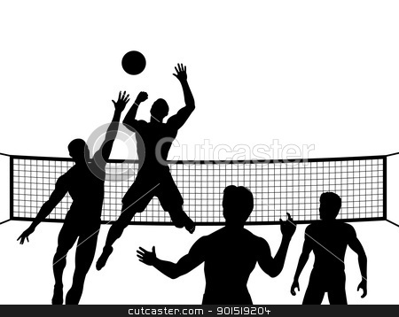 Volleyball outline distorted clipart.