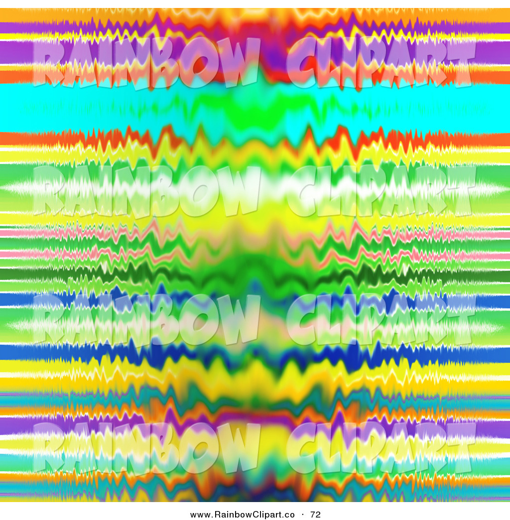 Clip Art of a Distorted Colorful Rainbow Line Background by MacX.