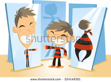 Distorted Mirror Stock Images, Royalty.