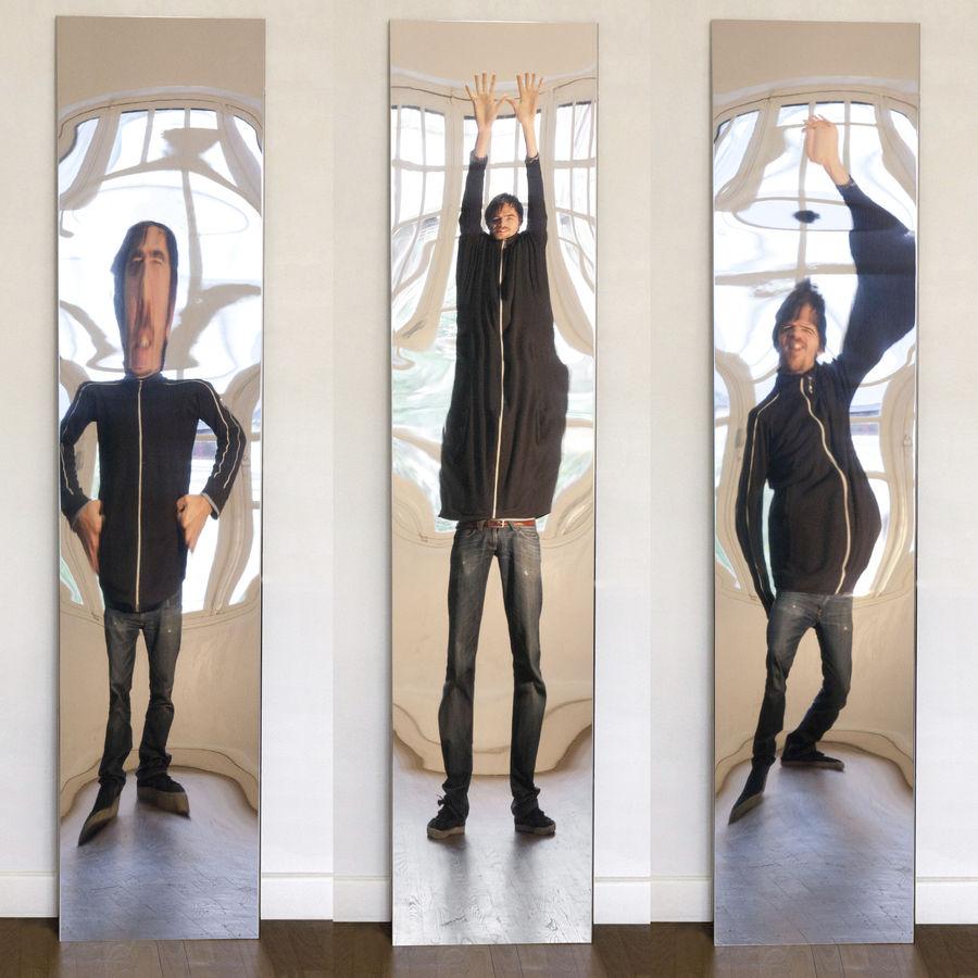 Distorted mirror clipart.