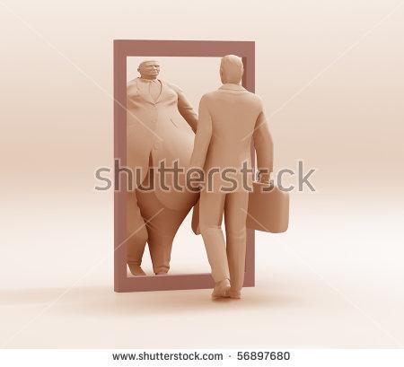 Distorting Mirror Stock Illustration 56897680.