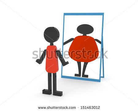Distorted mirror clipart.