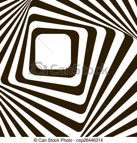 Vector Clip Art of Abstract lines distortion effect. Black and.