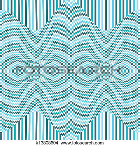 Clipart of Abstract geometric distortion background k13808604.