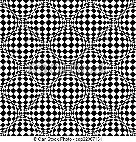 Clipart Vector of Seamless pattern with bulging distortion on.