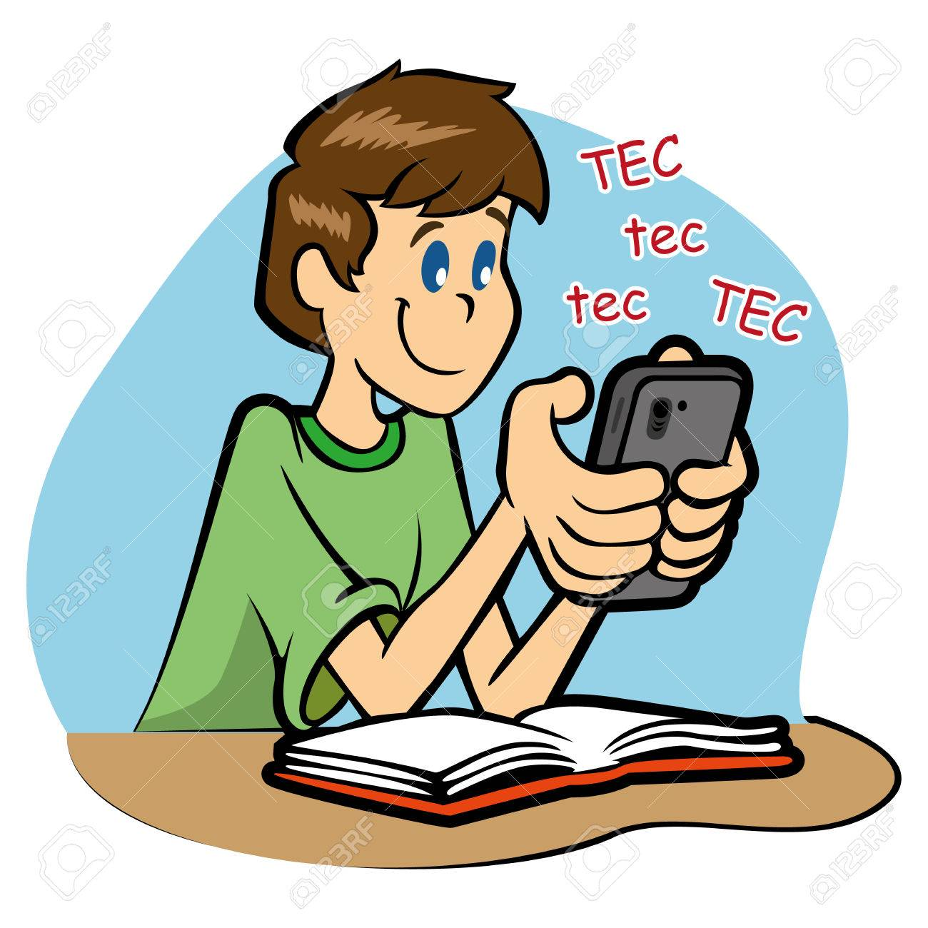 Student Using Phone Clipart & Free Clip Art Images #28240.