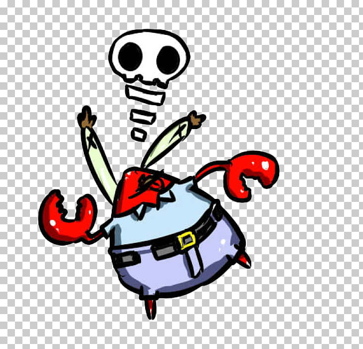 Mr. Krabs Crab Cartoon, Cartoon distracting crab boss PNG.