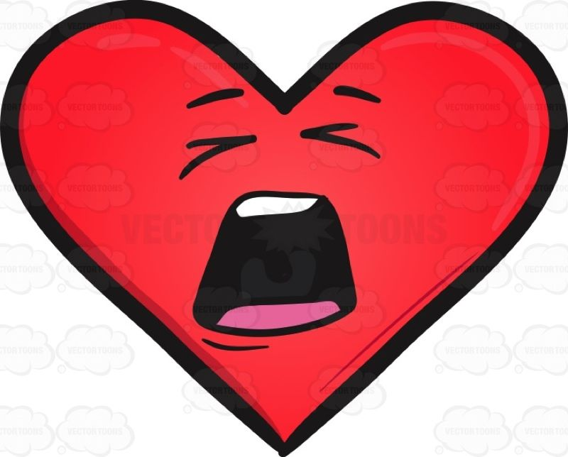 Distraught Heart Emoji #agitated #big #Blackborder #border.