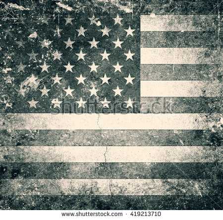 Grunge American Flag Stock Images, Royalty.