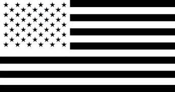 Similiar Black And White American Flag Artwork Keywords