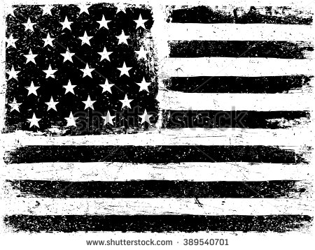 Distressed American Flag Clipart Black And White.